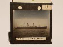 SS oceanic Original Glass plate slide photograph